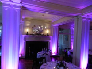 Uplighting at the Lincklaen Houseyracuse at the